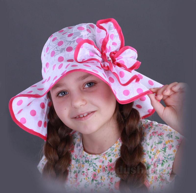 Панамка для девочки Бабасик Соломия малиновая
