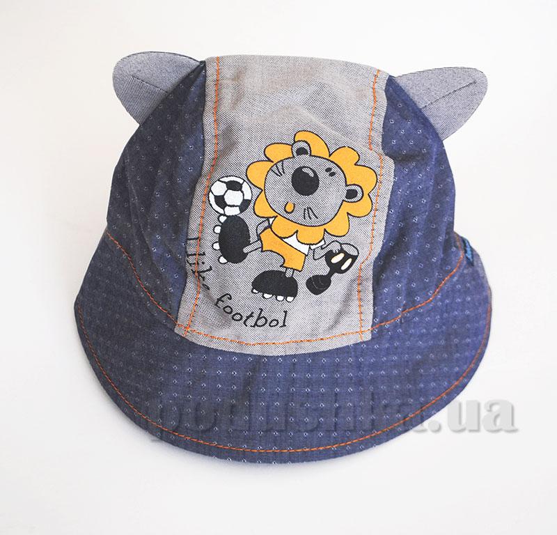 Панамка летняя для мальчика Лева Бабасик джинс с серым