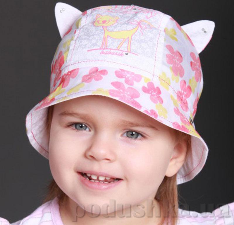 Панамка летняя для ребенка Мурка Бабасик коралловая