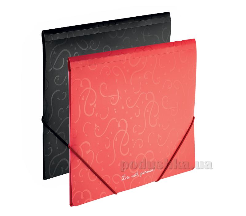 Папка на резинке Buromax Red-Black