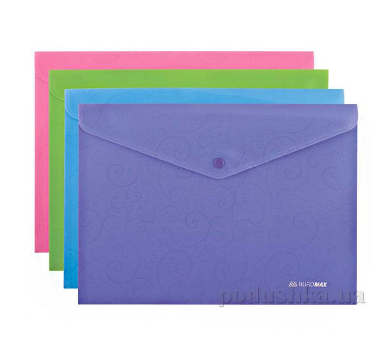Папка-конверт А4 на кнопке Buromax Barocco