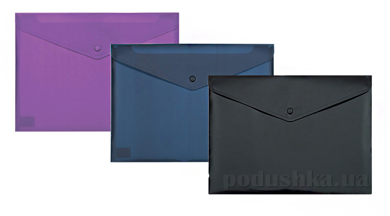 Папка-конверт А4 на кнопке Buromax глянцевая Gloss