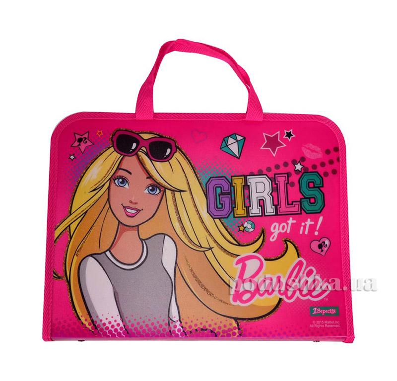 Папка-портфель на молнии  с тканевыми ручками Barbie 1 Вересня 1-491057