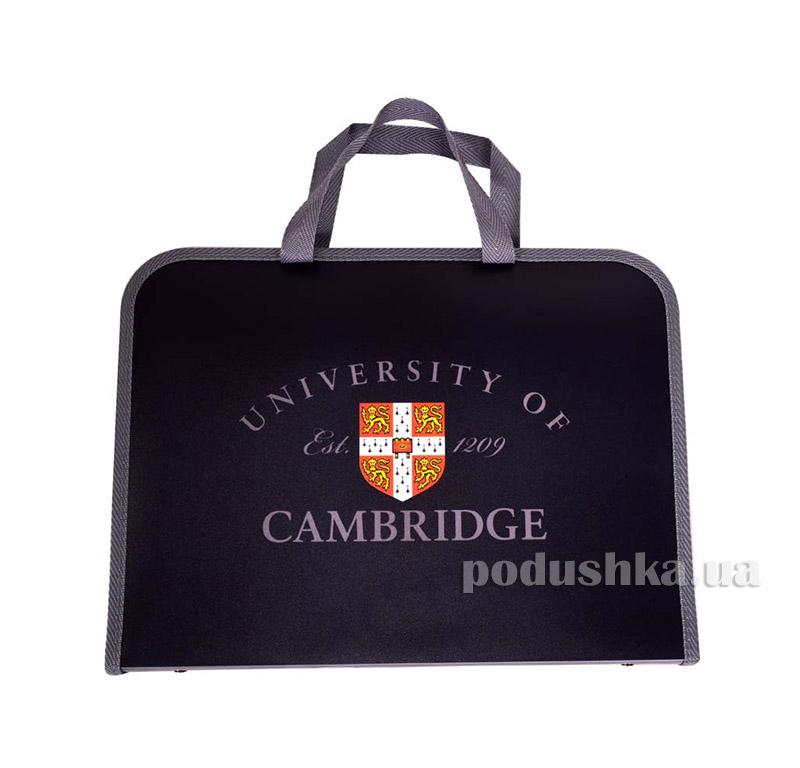 Папка-портфель на молнии  с тканевыми ручками Cambridge 1 Вересня 1-491063
