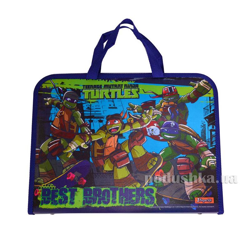Папка-портфель на молнии  с тканевыми ручками Ninja Turtles 1 Вересня 1-491071