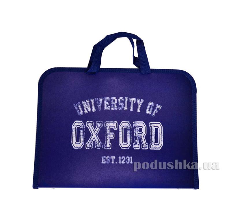 Папка-портфель на молнии  с тканевыми ручками Oxford 1 Вересня 1-491067