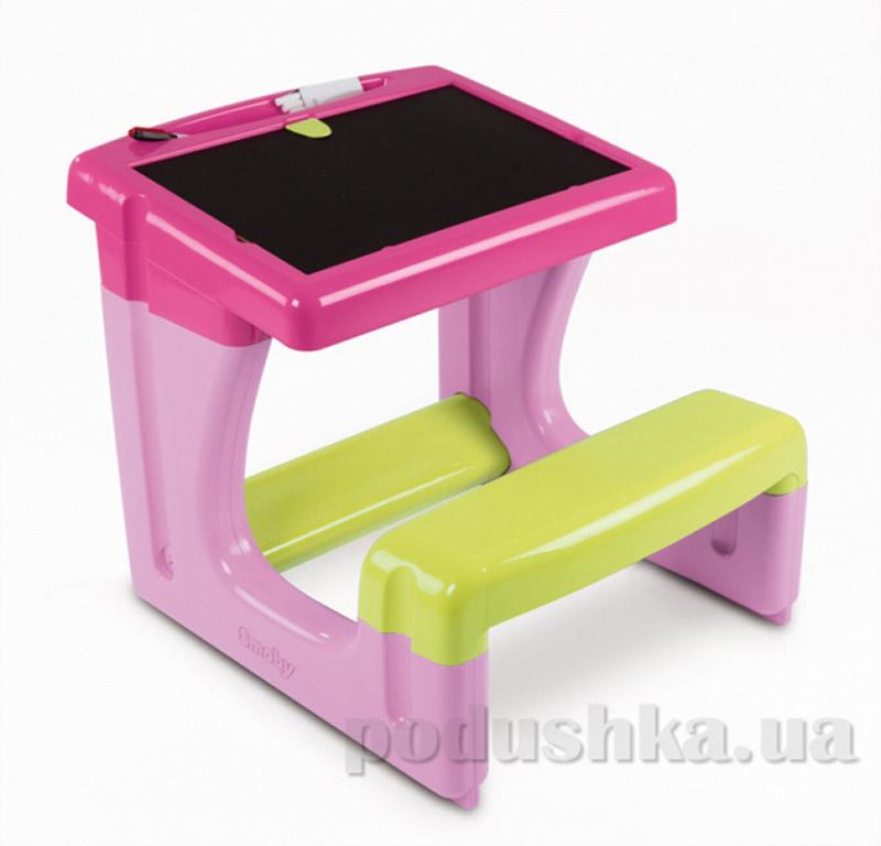 Парта-доска Pink Маленький школьник Smoby 028006