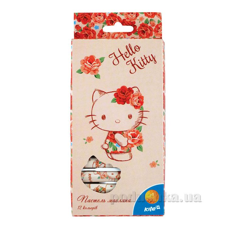 Пастель масляная 12 цветов Kite Hello Kitty HK15-071K
