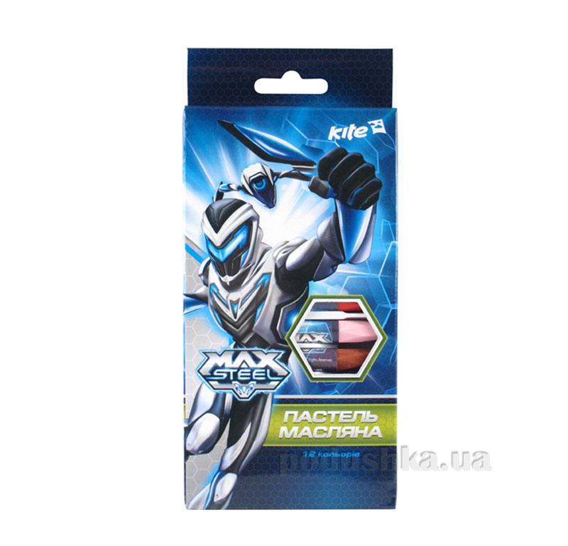 Пастель масляная 12 цветов Kite Max Steel MX14-071K