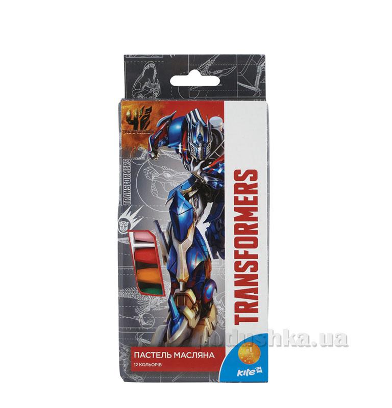 Пастель масляная 12 цветов Kite Transformers TF15-071K