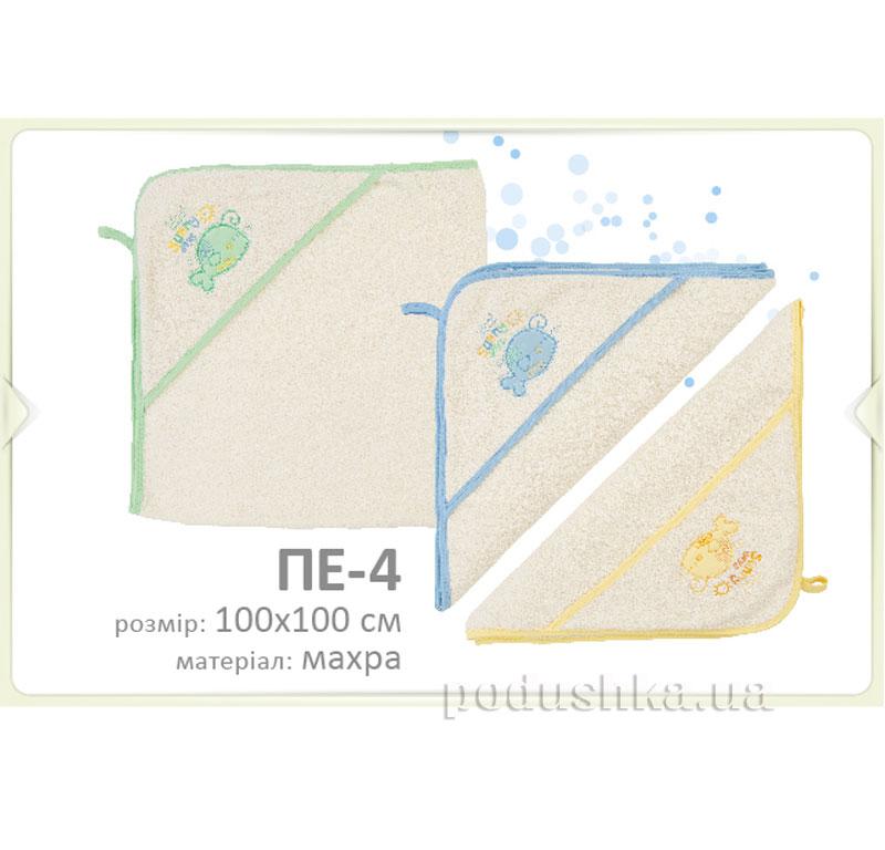 Пеленка детская Бемби ПЕ4 махра  размер 100х100 см Бембі