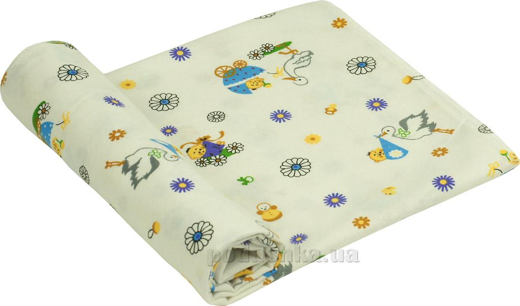 Пеленка детская фланель Руно 10-0320 blue