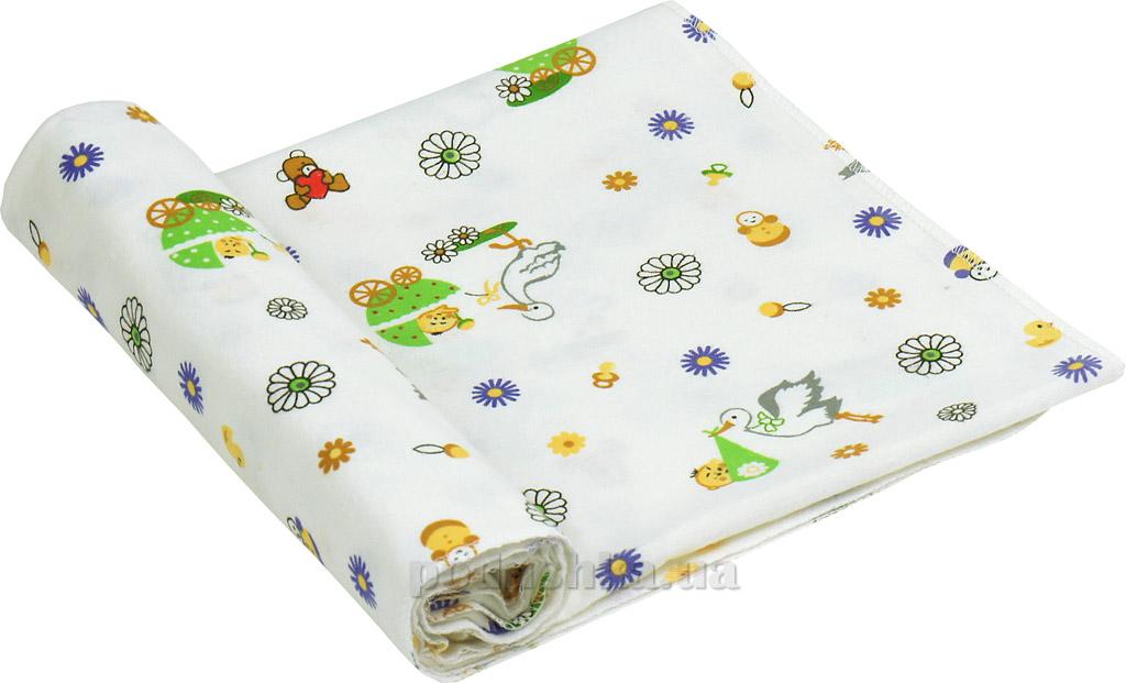Пеленка детская фланель Руно 10-0320 green