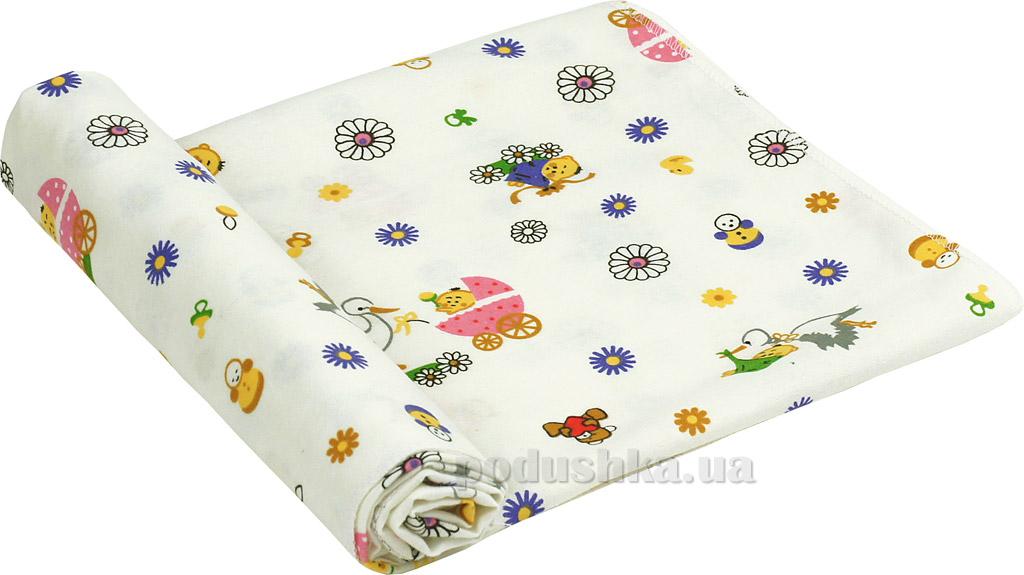 Пеленка детская фланель Руно 10-0320 pink