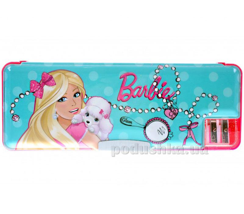 Пенал жесткий с точилками Barbie