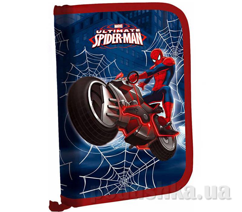 Пенал жесткий тканевый с клапаном Spider Man