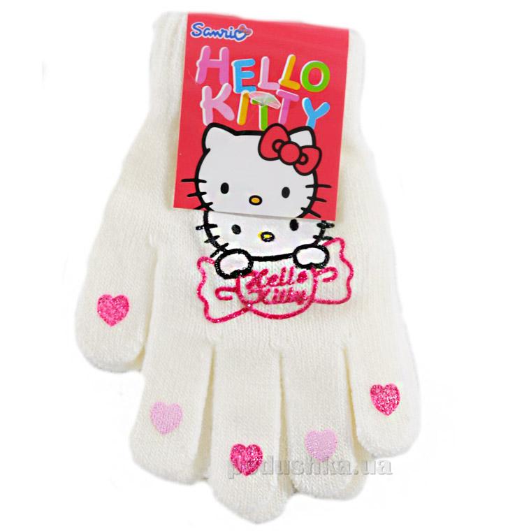 Перчатки для девочек Sun City NH4044white Котенок