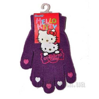Перчатки для девочек Sun City NH4044violet Котенок