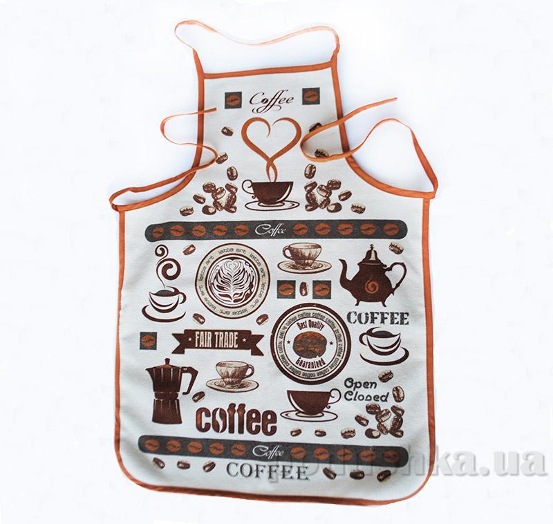 Передник Mariposa Кофейные зерна прорезиненный