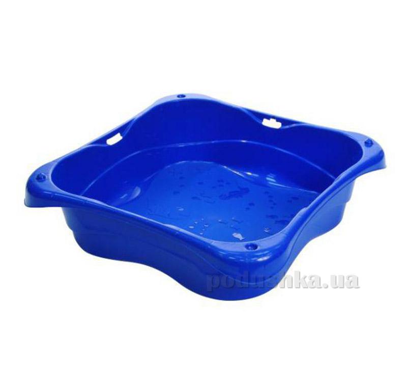 Песочница без крышки квадратная StarPlay синяя 25-515