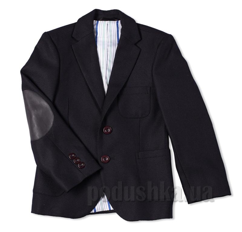 Пиджак с налокотниками черный Юность 283