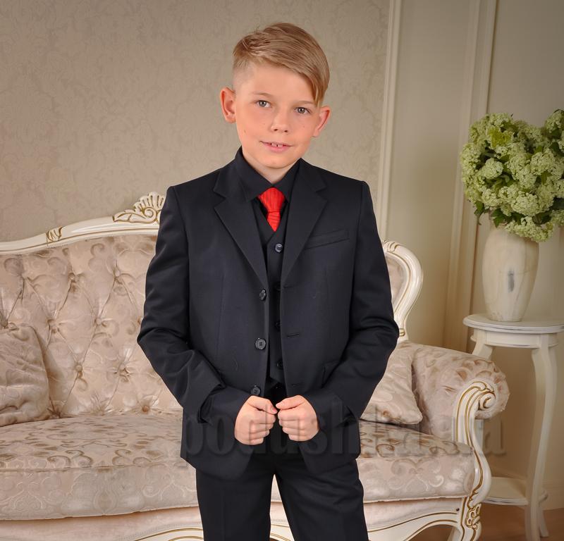 Пиджак школьный для мальчика Милана ПО-03102 черный