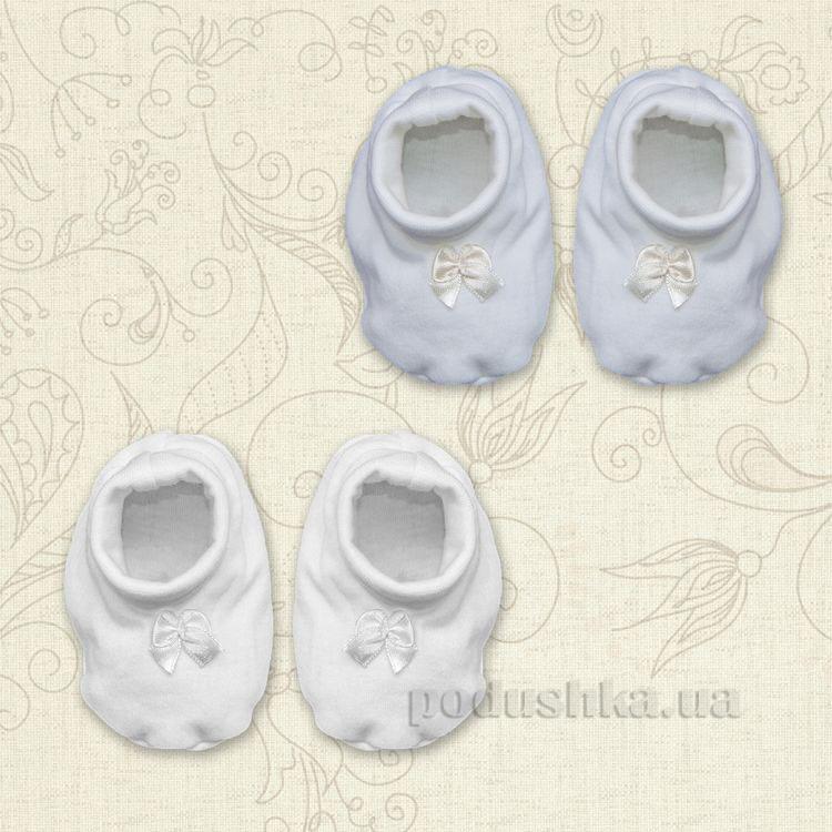 Пинетки для новорожденных Бантик Бетис интерлок