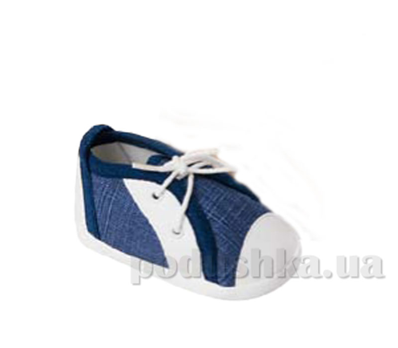 Пинетки Кеды на шнурках джинс тёмно-синий Volypok M031.9-10