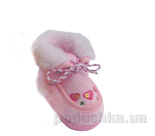 Пинетки Мокасины зима велюр розовый Volypok M083/9.4-10