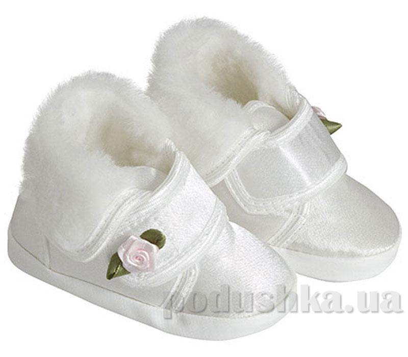 Пинетки с розочкой зима атлас Volypok M021/2-11