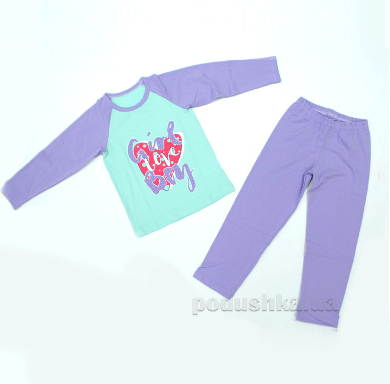 Пижама детская 1422П МТФ мята сиреневый