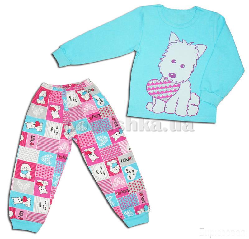 Пижама детская для девочки Собачка Габби 10029