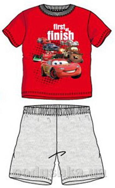 Пижама детская с коротким рукавом Sun City Машинки красная