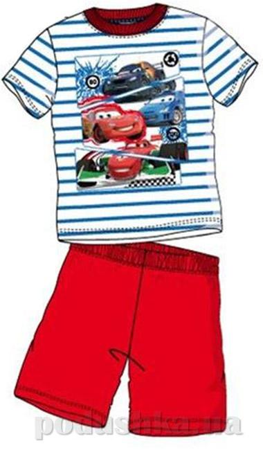 Пижама детская Sun City Машинки короткий рукав красная в полоску