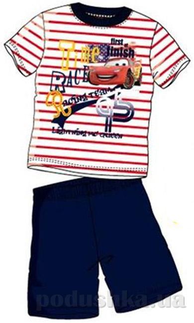 Пижама детская Sun City Машинка синяя в полоску