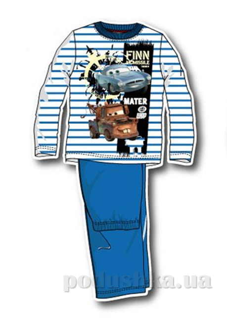Пижама детская Sun City Машинка в полоску голубая