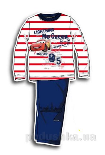 Пижама детская Sun City Машинки в полоску красная