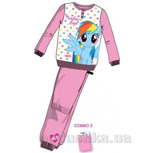 Пижама для девочек Sun City Пони EN7572pink