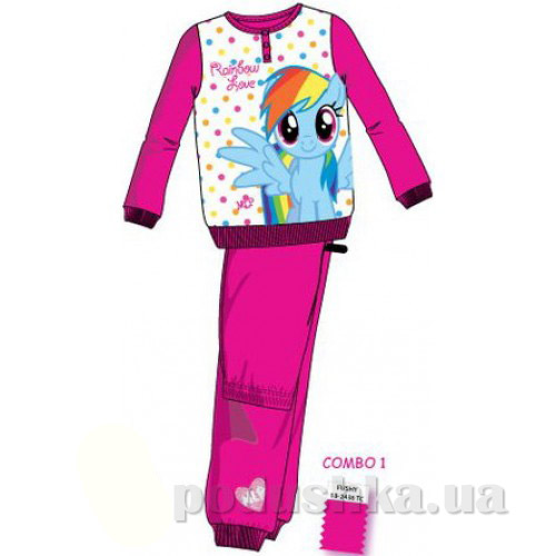 Пижама для девочек Sun City Пони EN7572red