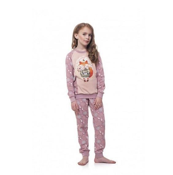 Пижама для девочки Ellen GNP 034 001 Снежинки Лисичка купить в Киеве ... 61db31ac40dc5