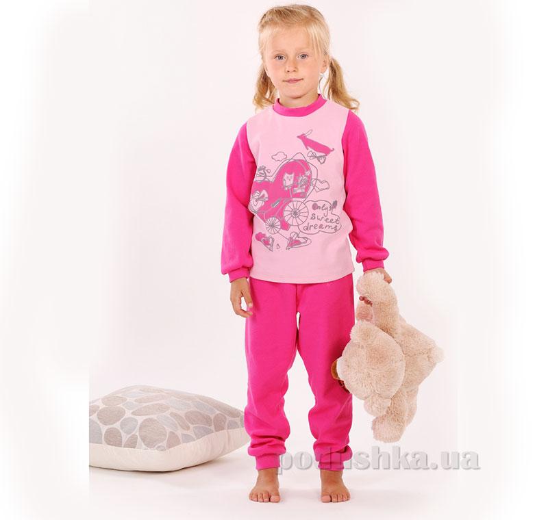 Пижама для девочки Модный карапуз 03-00540 розовая