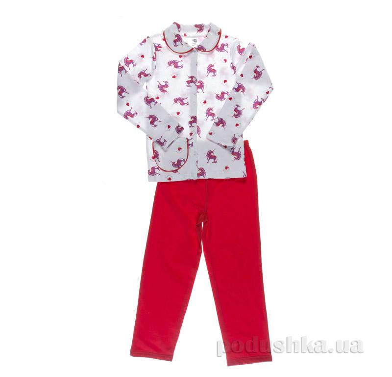Пижама для девочки Niso Baby Единорог красная