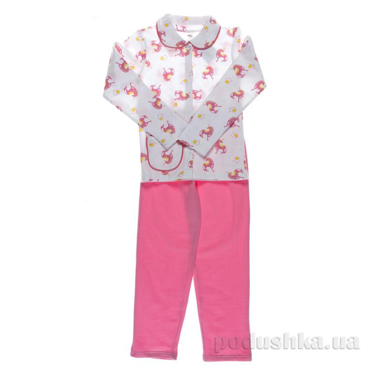 Пижама для девочки Niso Baby Единорог розовая