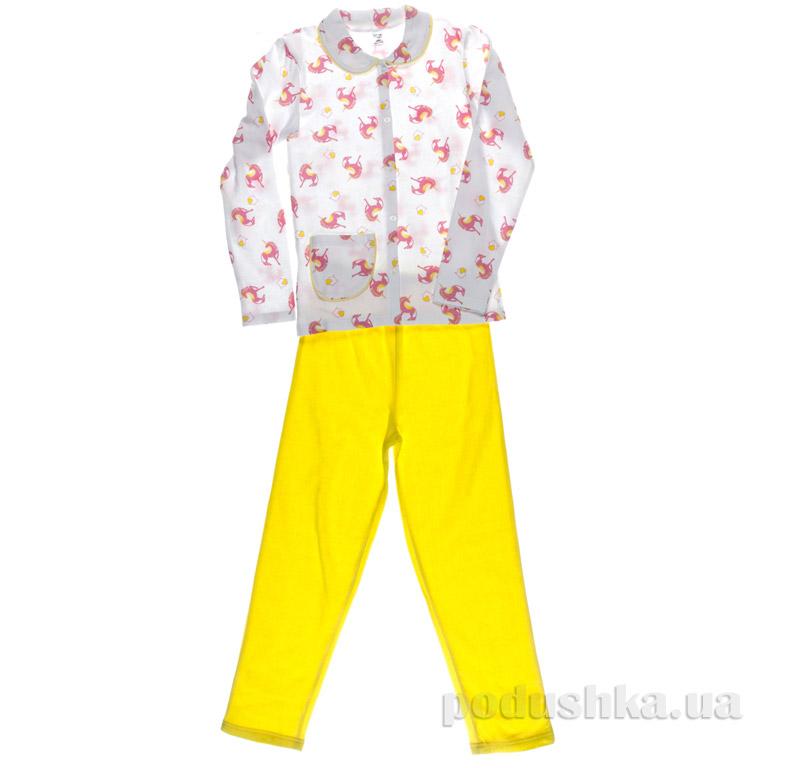 Пижама для девочки Niso Baby Единорог желтая