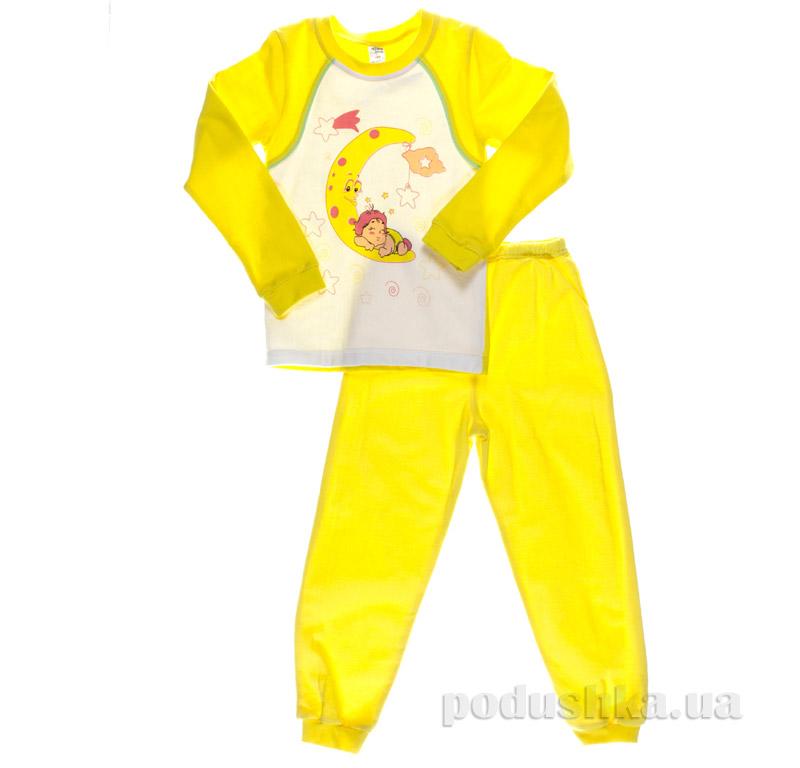 Пижама для девочки Niso Baby Месяц желтая