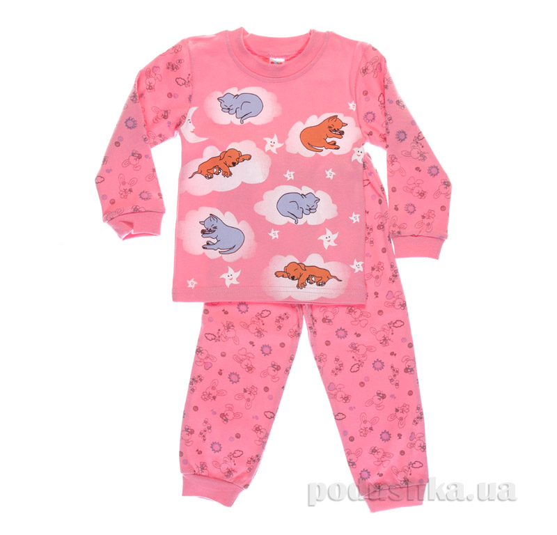 Пижама для девочки Niso Baby 1232 розовая