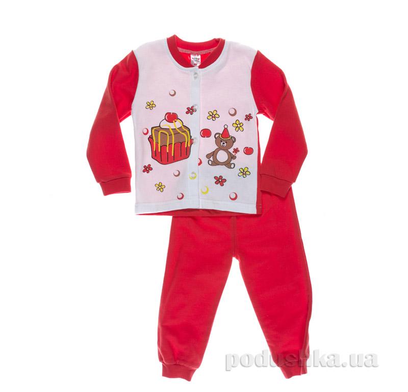 Пижама для девочки Niso Baby Торт красная