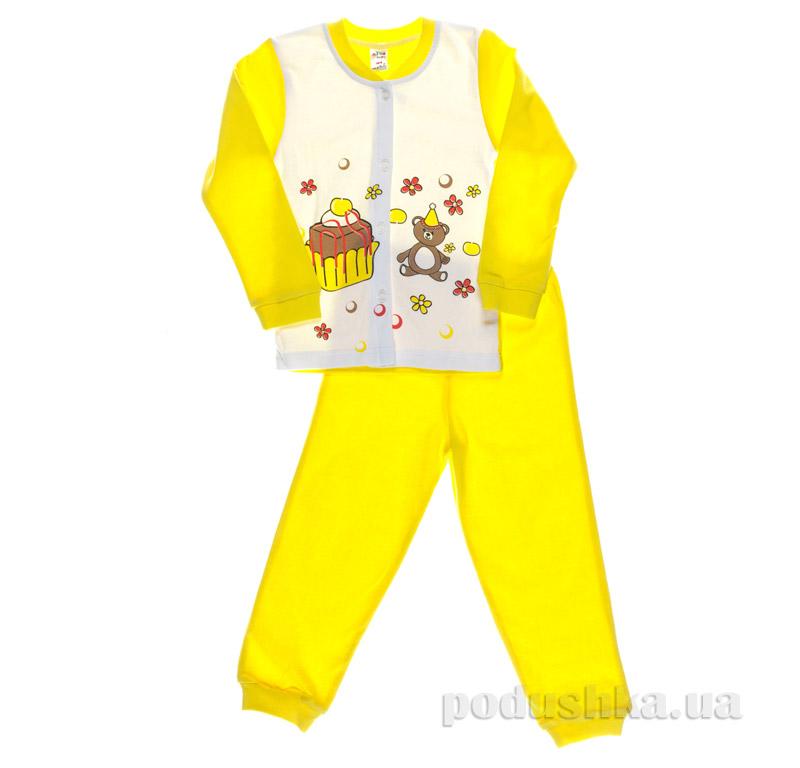 Пижама для девочки Niso Baby Торт желтая