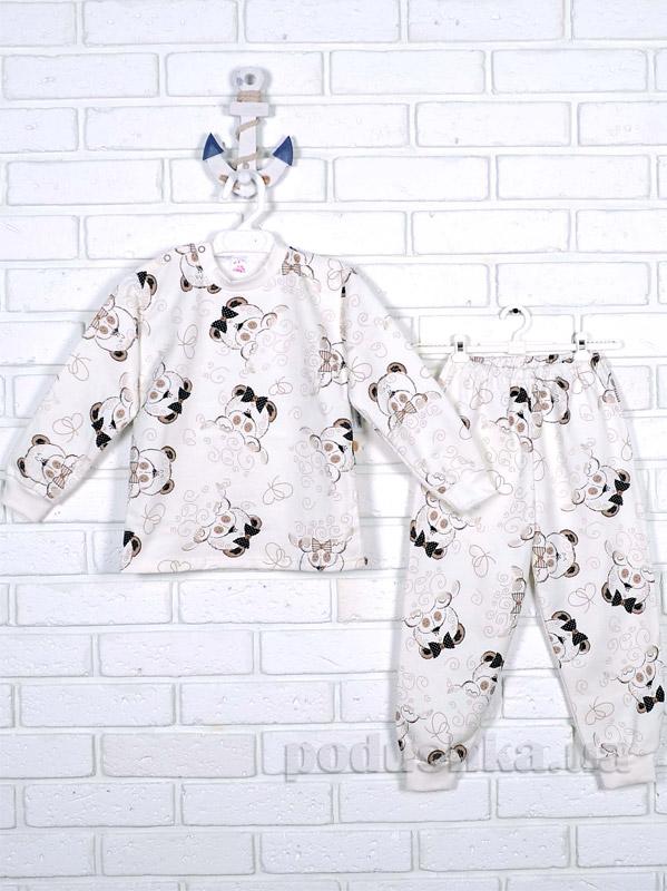 Пижама для девочки Татошка футер 01202 Мишки