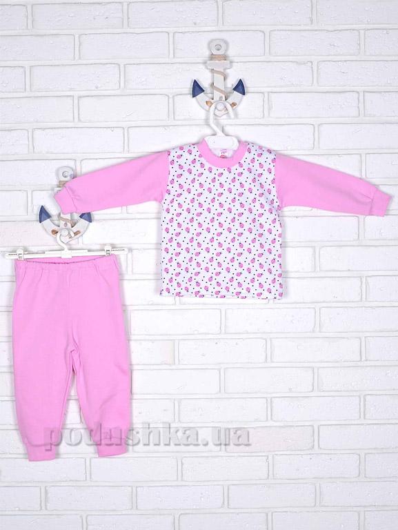 Пижама для девочки Татошка футер 01202 розовая
